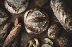 Uma variedade de nacos do pão Foto de Stock Royalty Free