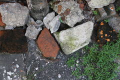 Uma variedade de terra de pedra Foto de Stock