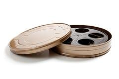Uma vasilha da película do movine no branco Foto de Stock