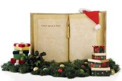Uma vez em cima de um presente do Natal Fotografia de Stock Royalty Free