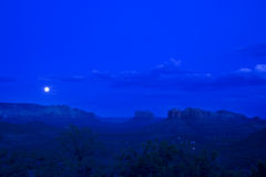Uma vez em uma lua azul Imagem de Stock Royalty Free
