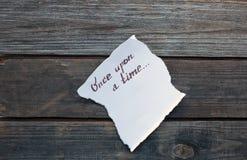 Uma vez mão escrita Fotos de Stock Royalty Free