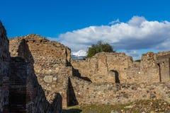 Uma viagem fascinante com as ruínas da cidade antiga de Pompeii, Itália fotos de stock