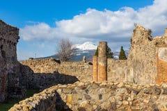 Uma viagem fascinante com as ru?nas da cidade antiga de Pompeii, It?lia imagem de stock