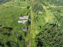 Uma vila abandonada Imagens de Stock Royalty Free