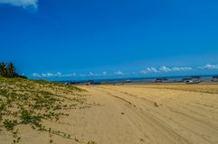 Uma vila bonita da ilha de Inhaca, ilha perto do português Islan foto de stock
