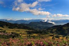 Uma vila do hani no vale Fotografia de Stock Royalty Free
