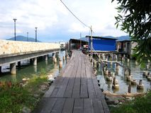 Uma vila dos pescadores na ilha de pangkor, Malásia Foto de Stock
