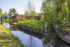 Uma vila etnográfica pitoresca Zanes-Schans netherlands Fotos de Stock