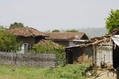 Uma vila, Nagzira Tiger Resort, santuário selvagem da vida de Nagzira, Bhandara, perto de Nagpur, Maharashtra fotos de stock royalty free