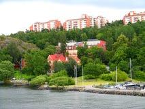 Uma vila no Báltico ao leste de Éstocolmo, Suécia fotografia de stock royalty free