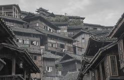 Uma vila pequena no sudoeste China fotografia de stock royalty free