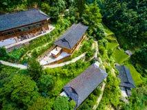 Uma vila tradicional t?pica do miao na minoria ?tnica de Guizhou Miao fotografia de stock