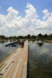 Uma visita à piscicultura Foto de Stock Royalty Free