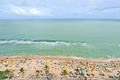 Uma vista à praia da cidade de Recife Fotografia de Stock