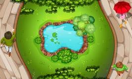 Uma vista aérea do parque fotos de stock royalty free