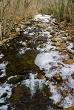 Uma vista alta de pouco Stony Creek imagem de stock