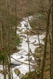 Uma vista alta de pouco Stony Creek imagens de stock