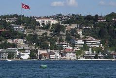 Uma vista ao mar em Bosphorus Foto de Stock