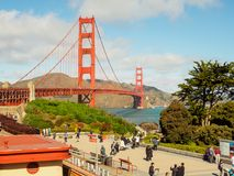 Uma vista bonita de golden gate bridge Imagem de Stock Royalty Free
