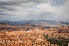 Uma vista bonita em Bryce Canyons fotos de stock