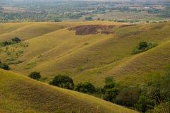 Uma vista bonita em montes de Lendongara Foto de Stock Royalty Free
