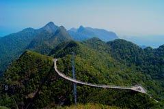 Uma vista cênico da ponte do céu de Langkawi Imagem de Stock