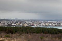 Uma vista cênico de Reykjavik Fotografia de Stock