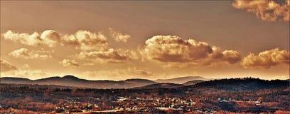 Uma vista cênico de Vermont Foto de Stock Royalty Free