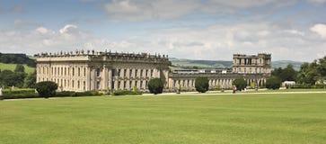 Uma vista da casa de Chatsworth, Grâ Bretanha Fotografia de Stock Royalty Free