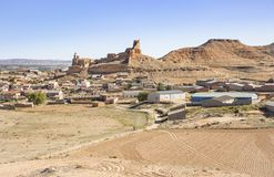 Uma vista da cidade de Monreal de Ariza Fotografia de Stock
