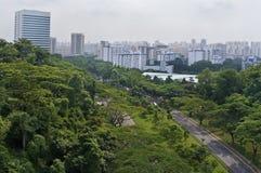 Uma vista da cidade de Singapore Fotografia de Stock Royalty Free