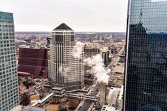 Uma vista da construção de Foshay em Minneapolis fotografia de stock
