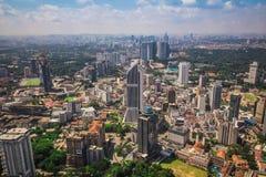 Uma vista da construção a mais alta em Kuala Lumpur fotografia de stock