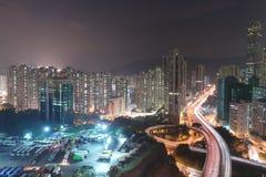 uma vista da estrada macilento HK de Tsuen foto de stock royalty free