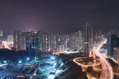 uma vista da estrada macilento HK de Tsuen imagem de stock royalty free
