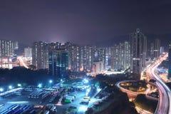 uma vista da estrada macilento HK de Tsuen imagens de stock royalty free