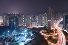 uma vista da estrada macilento HK de Tsuen imagem de stock