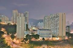 uma vista da estrada macilento HK de Tsuen fotos de stock royalty free