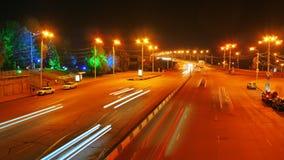 Uma vista da estrada na noite Fotos de Stock