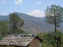 Uma vista da montanha ao viajar Fotos de Stock Royalty Free