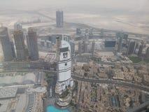 Uma vista da parte superior do khalifa do burj Foto de Stock
