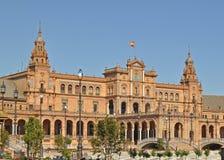 Uma vista da plaza De Espana Sevilha Spain Fotografia de Stock Royalty Free