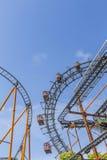 Uma vista da salsicha Riesenrad em Prater Imagem de Stock Royalty Free