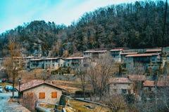 Uma vista da vila de Rupit fotografia de stock royalty free