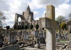Uma vista das sobras da abadia de Crowland, Lincolnshire, Ki unido foto de stock