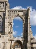 Uma vista das sobras da abadia de Crowland, Lincolnshire, Ki unido foto de stock royalty free