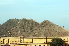 Uma vista de Amer Fort Foto de Stock Royalty Free