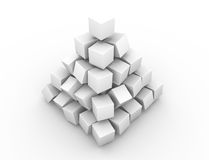 Uma vista de canto da pirâmide distorcida ilustração stock