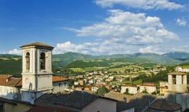 Uma vista de Cascia, Úmbria, Italy Imagem de Stock